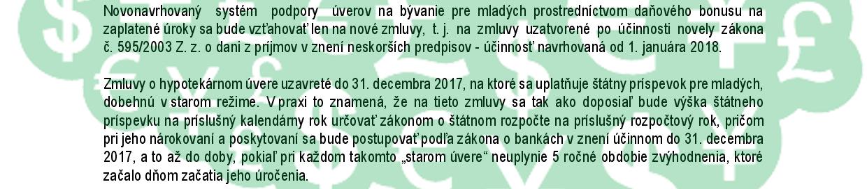 info ministerstvo financií hypotéky